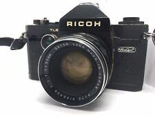 Ricoh TLS SLR Film Camera w/ Auto Rikenon 50mm f/1.7 M42 Mount Lens