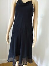**BLACK TIE HALTERNECK DRESS**SIZE 12**
