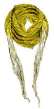 gecrashtes Dreieckstuch - senfgelb olive grau braun kariert mit gefransten Ecken