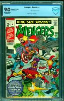 Avengers Annual #4 CBCS VF/NM 9.0 Off White to White