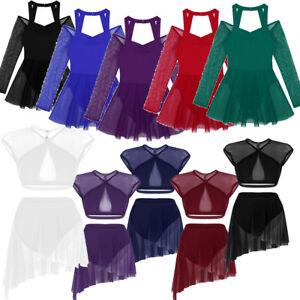 Ladies Women Ballet Leotard Dance Gymnastics Lyrical Dress Unitard Skirt Costume