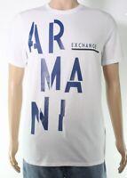 Armani Exchange Mens T-Shirt White Size Medium M Graphic Logo Tee $50- 305