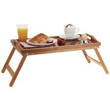 Serviertablett klappbare Füße Tabletttisch Frühstückstablett Betttablett Natur