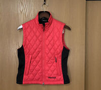 Marmot quilted vest jacket pink size small womens full zip