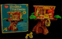 VINTAGE 1974 HASBRO WEEBLES TREE HOUSE COMPLETE WITH BOX EXCELLENT CONDITION HTF