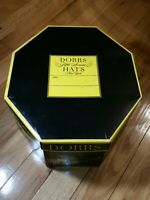 Rare Vintage Dobbs Hats Fifth Avenue New York Octagon Hat Box Carriage.