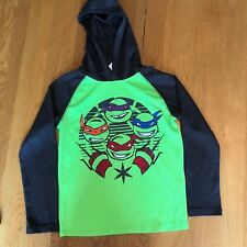 Nickelodeon Teenage Mutant Ninja Turtle TNMT boys sz 8 long sleeve hooded shirt