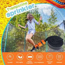 49ft Trampoline Sprinkler Spray Hose Waterpark Kids Toy Swimming Pool Backyard