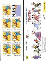 France 2000 Tintin/Dog/Cartoons/Stamp Day/Herge/Books/Animation 7v bklt  n32630a
