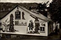 Triberg Schwarzwald Postkarte ~1950/60 Sgraffito am Triberger Heimat Museum