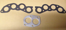 New Fiat X19 X1/9 128 Pair of Exhaust Manifold Gaskets & Exhaust Pipe Gasket Set