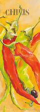 Elizabeth Espin: Le jardin du Piment Bloc d'Art 25x70 Cuisine Légumes