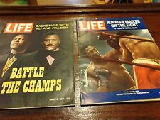 Life Magazine 2 Back Issues 1971 Battle Of The Champs Frazier Vs Ali
