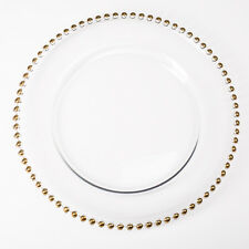 """Richland Charger Plate Glass Beaded 13"""" Home, Event & Wedding Decor"""