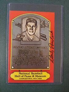 Stanley Coveleski -Signed Orange HOF Postcard -Indians - JSA (59)