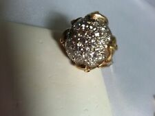 14K Yellow Gold, Antique, Cocktails Ring , with Diamonds, size 7.