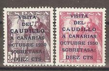 1951 VISITA A CANARIAS EDIFIL 1088/9*