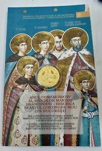 KM# 394 ROMANIA 100 LEI 2014 BRANCOVEANU SAINT GEORGE Gold COIN Romanian 6.45 gr