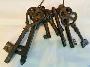 Old Vintage Antique Big Castle Dungeon Medieval Skeleton Keys