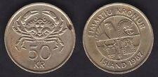 ISLANDE   50 KRONUR 1987