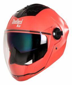 Steelbird Air SBA-2 Double Rainbow & Clear Visor Dashing Red Full Face Helmet