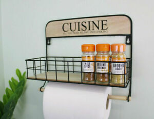Wall Hanging Kitchen Storage Unit with Kitchen Roll Holder Home Decor