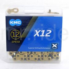 KMC X12 12 speed 126L MTB Mountain Bike Bicycle Chain for SRAM Eagle,GX -  Gold