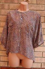 Primark TAUPE ROSA BLUMEN PUMPHOSE Oversized Bluse Top T Shirt Tunika Weste 14 L