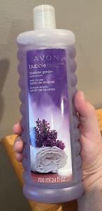 Avon Bubble Delight Lavender Garden Bubble Bath 24oz New Sealed