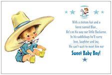 Western cowboy Baby Shower Greeting Cards Invitations eBay