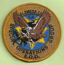 ALAMEDA COUNTY CALIFORNIA POLICE EOD BOMB SQUAD PATCH