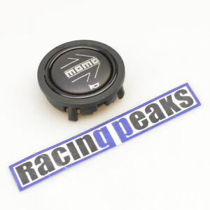MOMO black matte chromed logo steering wheel horn button racing tuning 55mm