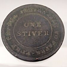 1838 Trade Navigation One 1 Stiver Copper Preferable Paper Colonial Token B672