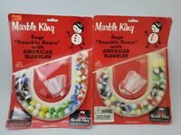 2 Vintage Marbles By Marble King 1965 American Made Glass New In Package USA