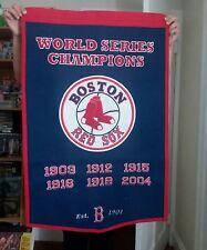 Boston Red Sox World Series Champions Banner 1903 - 2004 WOOL MLB LARGE