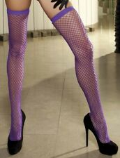 Deep Purple Power Fishnet Stay Up Fishnet Stockings One Size 90236
