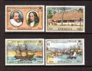 Bermuda 1984 Ships/First Settlement set MNH mint stamps