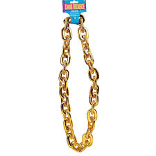 NEW JUMBO GOLD CHAIN RAPPER PIMP GANGSTER NECKLACE MEN'S FANCY DRESS ACCESSORY