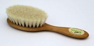 Baby Haarbürste Babybürste Bürste Natur Buche gewachst Ziegenhaar weich ca. 16cm