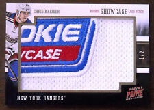 2012/13 CHRIS KREIDER PANINI PRIME ROOKIE SHOWCASE LOGO PATCH  ROOKIE RC 1/2!