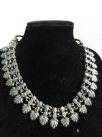 """Antique Victorian Rajasthani Rustic Necklace German Silver 1880-1900 17"""""""