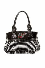 Banned Vintage Retro Nautical Sailor Polka Dot Rose Striped Shoulder Handbag