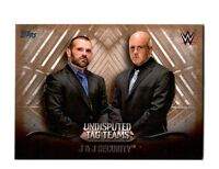 WWE J & J Security 2016 Topps Undisputed Tag Teams Parallel Card SN 52 of 99