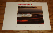 Original 1989 Daihatsu 16 Valve Charade Foldout Sales Brochure 89 CLS CLX