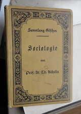 Th. Achelis: Sociologie Sammlung Göschen Leipzig 1899 gebunden