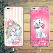 DISNEY ARISTOCATS  MARIE DIAMONDS PINK PHONE CASE COVER FOR IPHONE & SAMSUNG