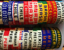 4X COUNTRY FLAG WRISTBAND FRIENDSHIP BRACELET, MIX AND MATCH DIFFERENT COUNTRIES