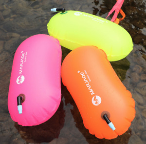 Inflatable Open Water Swim Buoy Tow Float Swimming FREE POSTAGE