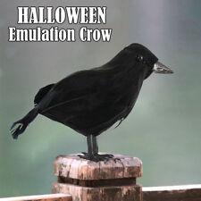HALLOWEEN STUFFED FEATHER FEATHERED CROW BIRD BLACKBIRD RAVEN FANCY DRESS PROP