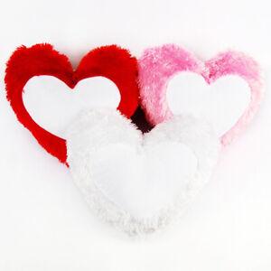 3D Sublimation Blank Pillow Case Heart Shape for DIY Home Party Decor - 10Pcs